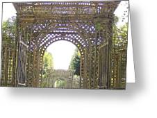 Versailles Garden Entrance Greeting Card by Maggie Cruser