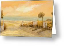Verso La Spiaggia Greeting Card by Guido Borelli