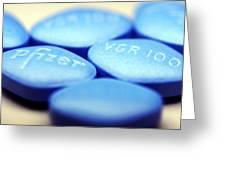 Viagra Pills Greeting Card by Pasieka