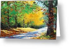 Vibrant Autumn Greeting Card by Graham Gercken