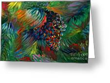 Vibrant Grapes Greeting Card by Nadine Rippelmeyer