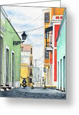 Viejo San Juan Greeting Card by Tom Dorsz