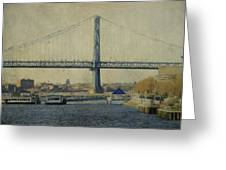 View From The Battleship Greeting Card by Trish Tritz