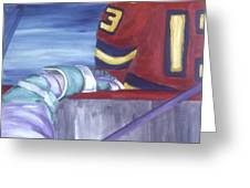 View From The  Players Bench Greeting Card by Ken  Yackel