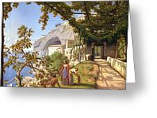 View Of Capri Greeting Card by Theodore Aligny