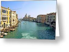View Of Grand Canal In Venice From Accadamia Bridge Greeting Card by Michael Henderson