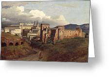 View Of Saint John Lateran Rome Greeting Card by Joseph Desire Court