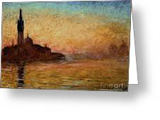 View Of San Giorgio Maggiore Greeting Card by Claude Monet
