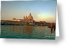 View Of Santa Maria Della Salute On Grand Canal In Venice Greeting Card by Michael Henderson