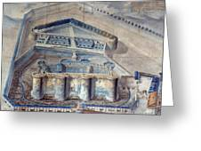 View Of The Bastille Greeting Card by Granger