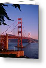 View Of The Golden Gate Bridge Greeting Card by American School