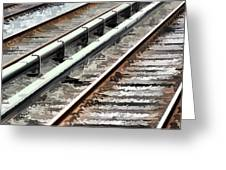 View of the railway track  Greeting Card by Lanjee Chee