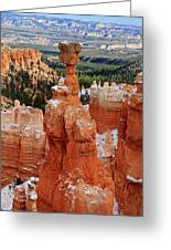 View Of Thor's Hammer In Bryce Canyon Greeting Card by Pierre Leclerc Photography