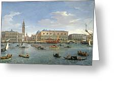 View Of Venice From The Island Of San Giorgio Greeting Card by Gaspar van Wittel