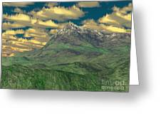 View To The Mountain Greeting Card by Gaspar Avila
