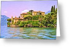 Villa On Lake Como Greeting Card by Dominic Piperata
