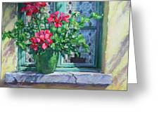 Village Welcome Giverny France Greeting Card by L Diane Johnson