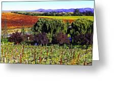 Vineyard 5 Greeting Card by Xueling Zou