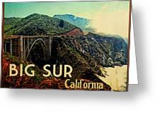 Vintage Big Sur California Greeting Card by Flo Karp