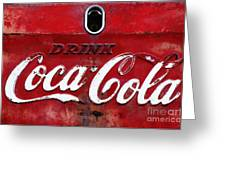 Vintage Coca Cola Sign Greeting Card by Anahi DeCanio