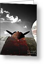 Vintage Dc-3 Aircraft  Greeting Card by Steven  Digman