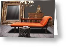 vintage furnitures Greeting Card by ATIKETTA SANGASAENG