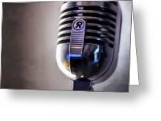 Vintage Microphone 2 Painted Greeting Card by Scott Norris
