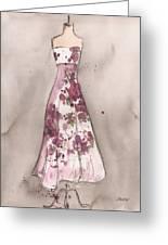 Vintage Romance Dress Greeting Card by Lauren Maurer