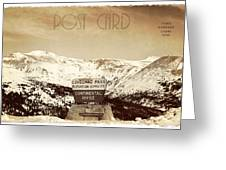 Vintage Style Post Card From Loveland Pass Greeting Card by Juli Scalzi