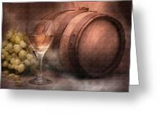 Vintage Wine Greeting Card by Tom Mc Nemar