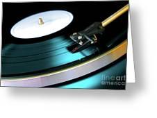 Vinyl Record Greeting Card by Carlos Caetano