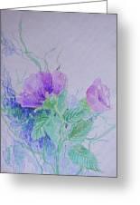 Violet Flowers Greeting Card by Sharmila L