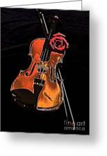 Violin Extreme Greeting Card by Marsha Heiken