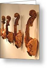 Violin Hearts Greeting Card by Karissa Bishop
