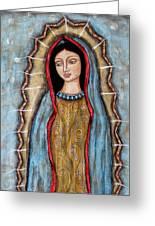 Virgen De Guadalupe Greeting Card by Rain Ririn