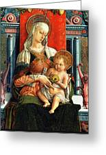 Virgin Mary And Child Greeting Card by Carlo Crivelli