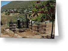 Virginia City Cemetery Broken Gate Greeting Card by LeeAnn McLaneGoetz McLaneGoetzStudioLLCcom
