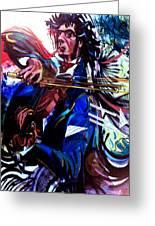 Virtuoso Violinist Greeting Card by Jose Roldan Rendon