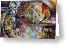 'visions Of Eight' Greeting Card by Michael Lang