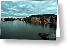 Vltava View 2 Greeting Card by Madeline Ellis