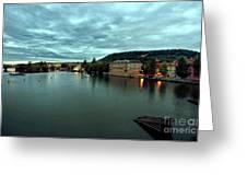 Vltava View 2 Greeting Card by Madeline Ellis
