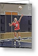 Volleyball Girl Greeting Card by Kelley King