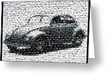 Vw Bug Volkswagen Mosaic Greeting Card by Paul Van Scott