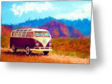 Vw Van Classic Greeting Card by Marilyn Sholin