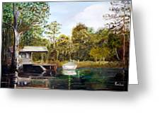 Waccamaw River Sloop Greeting Card by Phil Burton