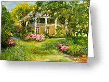 Wachesaw Plantation Greeting Card by Jane Woodward