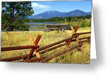 Wagon West Greeting Card by Marty Koch