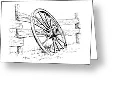 Wagon Wheel Greeting Card by Bob Hallmark