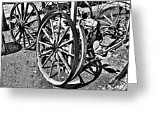 Wagon Wheel Graveyard Greeting Card by Douglas Barnard