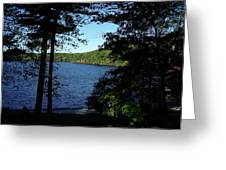 WALDEN POND END OF SUMMER Greeting Card by LAWRENCE CHRISTOPHER